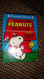 Vintage Sealed Set Tuff Stuff Peanuts Collection Trading Cards