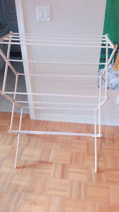 excellent condition clothes drying rack from Walmart