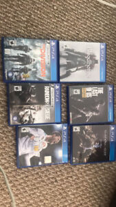 PS4 bundle, good games, 2 controllers, turtle beach headset