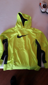 Nike size large Therma Fit Bright Yellow Hoodie