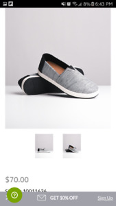 Toms shoes 8.5 brand new black