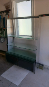Glass / metal shelving stand great for display.. best offer
