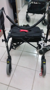 Nexus wheeled walker with cupholder and zipped compartment