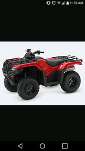 LOOKING FOR A FOURWHEELER