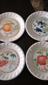 Golden pie collection desert plates