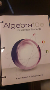 Collage algebra textbook