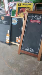 BEER BLACKBOARD SIGNS.