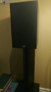 PSB Alpha A/V Bookshelf speakers with stands