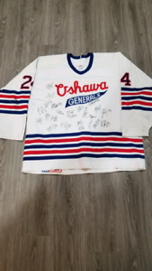 Game Worn and Signed OHL Oshawa Generals Jersey