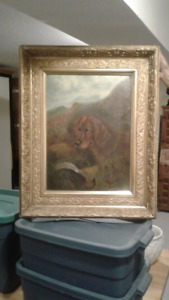 Oil painting Beautiful gold frame