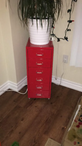 Metal chest of drawers x 2