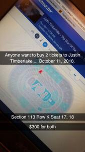 Justin Timberlake Tickets Oct 11, 2018 - Ottawa