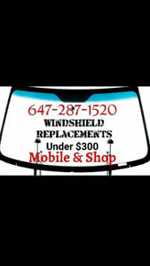 Auto glass windshields shop and mobile open 9am - 6pm OEM glass