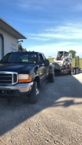 Float and dump trailer service