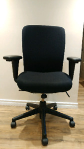 Haworth ergonomic black adjustable office chair