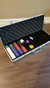Poker chips and Carrying case