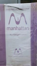 New still in packaging Clear Sail Bathscreen Door Chrome finish Manhattan
