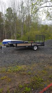 2008  5x10 single axle utility trailer .