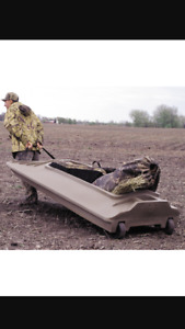 Beaver tail Final attack duck boat blind w/motor mount
