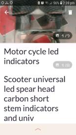 Motorcycle bar grips an indicators