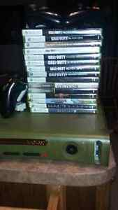 HALO EDITION XBOX 360 WITH 3 REMOTES AND 18 GAMES