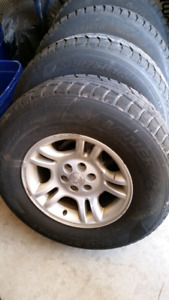 Dodge Dakota Rims and Winter tires 245/75/16