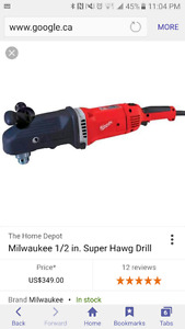 """Looking for a 1/2""""angle drill"""