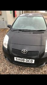 Toyota Yaris 1.4 D-4D 2 Door Black Diesel 2008/ 08 Reg Taxed and MOT
