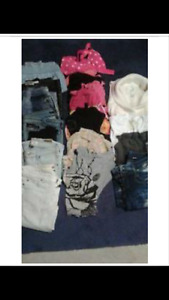 30 pcs sz 3 -5...   8 jeans/pants, sweaters and dressy tops and