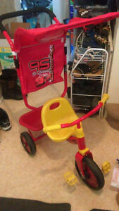 Disney Cars trike with parent handle