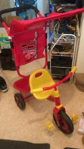 Disney Cars trike with parent handle