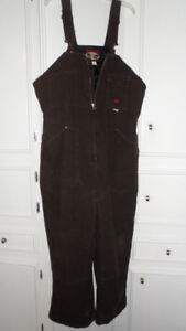 NEW Tough Duck Pre-Washed Lined Overalls
