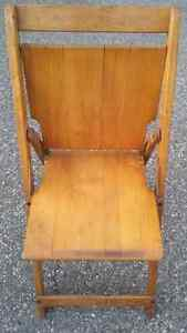 6 Antique wooden folding chairs