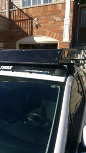 Thule roof rack and after market cargo cage