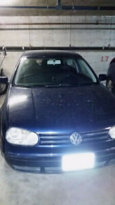 2002 Blue Volkswagen Golf Hatchback Automatic