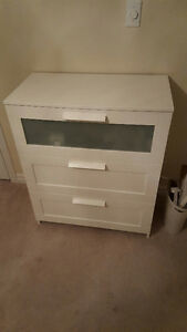 White Ikea 3 drawer dresser
