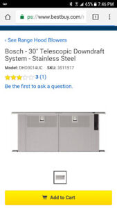 BOSCH downdraft - NEW!