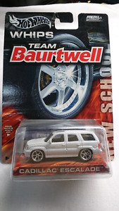 HOT WHEELS DIE CAST WHIPS TEAM BAURTWELL CADILLAC ESCALADE W/RR