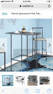 Small 2 person bar table