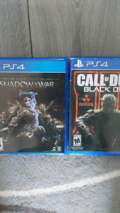 Trading Shadow of War and Black Ops 3