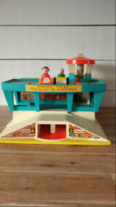 aeroport Fisher-Price 1970 , fisher-price vintage