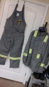 WINTER WORK WEAR , JACKETS AND BIB COVERALLS