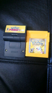 Pokemon yellow et pokemon pinball gameboy