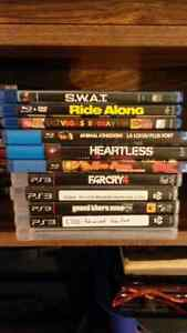 Ps3 + 5 games + 6 blu-ray movies