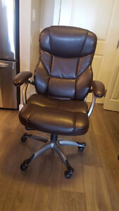 Bonded Leather High-Back Manager's Chair AND   3-Drawer Desk