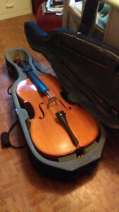 4/4 Cello with case plus accessories