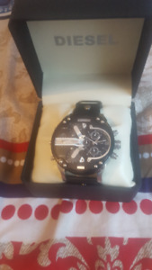 Diesel DZ7313 Solid stainless steel 4 time Chrono