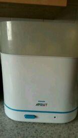 Phillips Advent Sterilizer, manual breast pump & bottles £10