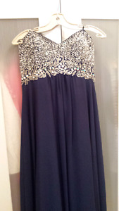 Bedazzled Prom Dress Size 14