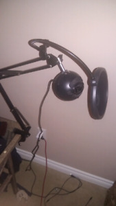 Blue Snowball with microphone arm